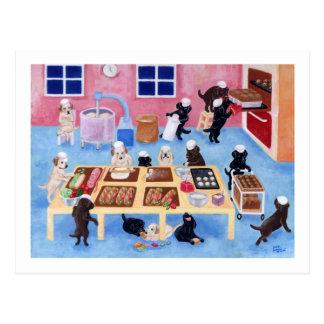 Labradors Bakery Postcard