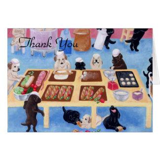 Labradors Bakery Thank You Greeting Card