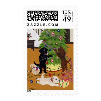Labradors Christmas Stamps