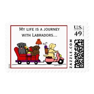 Labradors de mudanza sellos