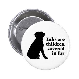 Labradors es niños de la piel pin redondo de 2 pulgadas