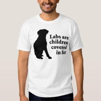 Labradors es niños de la piel poleras