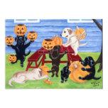 "Labradors Halloween Party Invitations 5"" X 7"" Invitation Card"