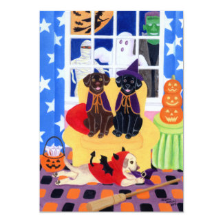 Labradors Halloween Party Invitations