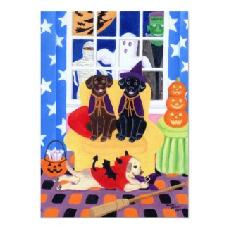 Labradors Halloween Party Invitations