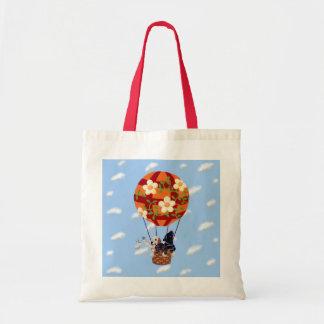Labradors & Hot Air Balloon Painting Budget Tote Bag