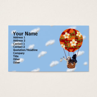 Labradors & Hot Air Balloon Painting Business Card