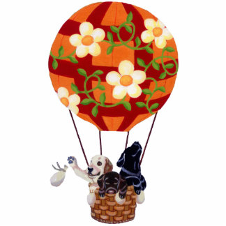 Labradors & Hot Air Balloon Painting Acrylic Cut Outs