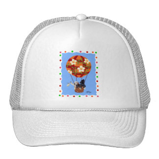 Labradors & Hot Air Balloon Painting Trucker Hat