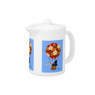 Labradors & Hot Air Balloon Teapot