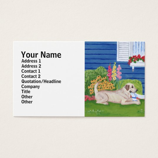 Labradors in the Garden Painting Business Card
