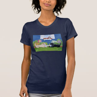 Labradors in the Garden Painting T-Shirt