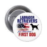 Labradors para el primer perro pin