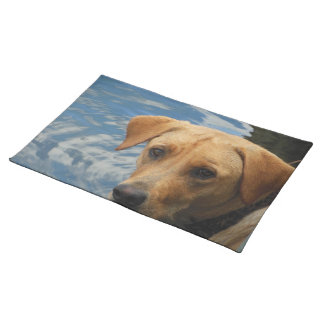 Labradors Wet Face Cloth Placemat