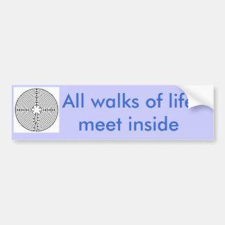 labrynth-BW, todos los paseos del lifemeet dentro Pegatina Para Auto