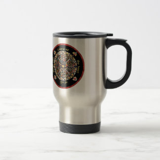 "Labrynth-""Love is at the Heart of All Things Real"" Travel Mug"