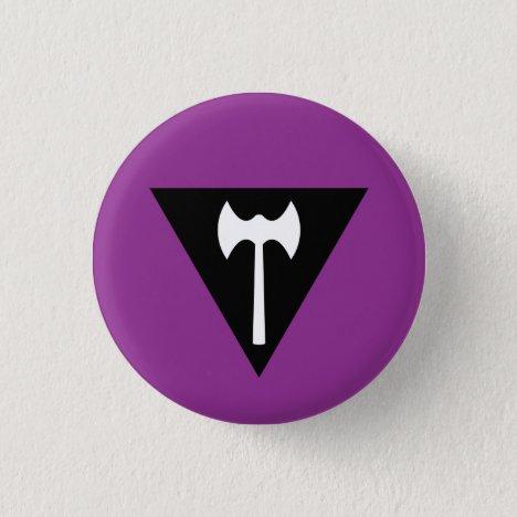 Labrys Butch Lesbian Pride Flag Badge Button
