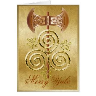 Labrys, espiral triple, y acebo - tarjeta 1 de