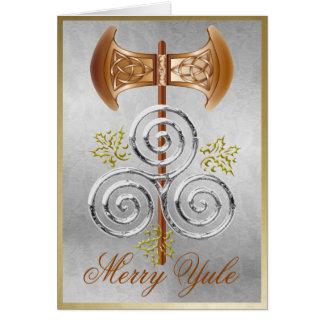Labrys espiral triple y acebo - tarjeta 2 de Yul