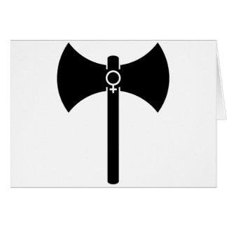 Labrys negro tarjeta de felicitación