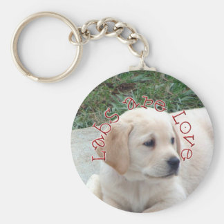Labs are Love Keychain