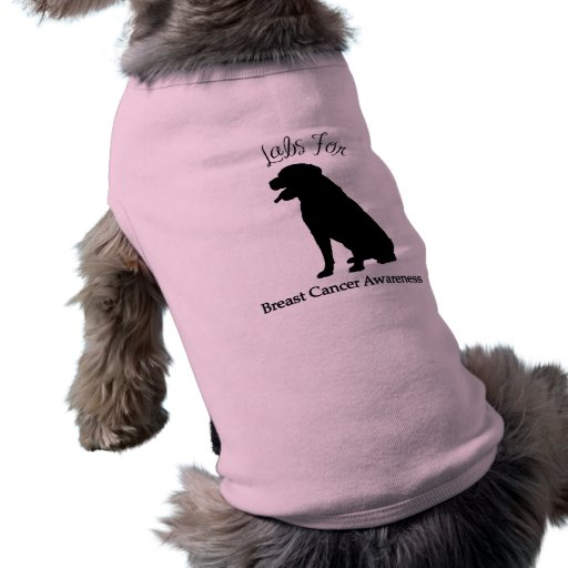 Labs For Breast Cancer Awareness Dog Shirt