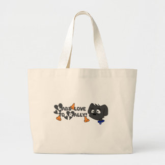 Labs Love to Rally Large Tote Bag