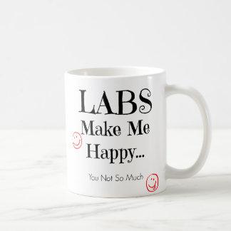 Labs Make Me Happy Mug - Labrador Coffee Mug