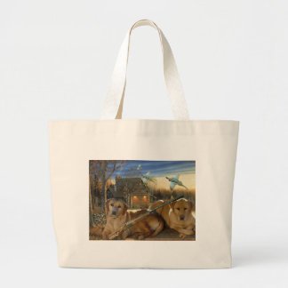 Labs Ready For The Hunt Large Tote Bag