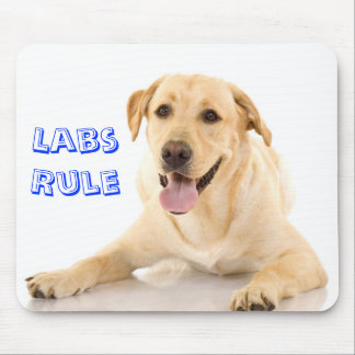 """Labs Rule"" Yellow Labrador Retriever  Mousepad"