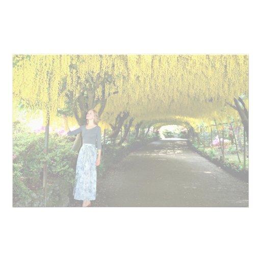 Laburnum arch, Bodnant Garden from the Forest Stationery