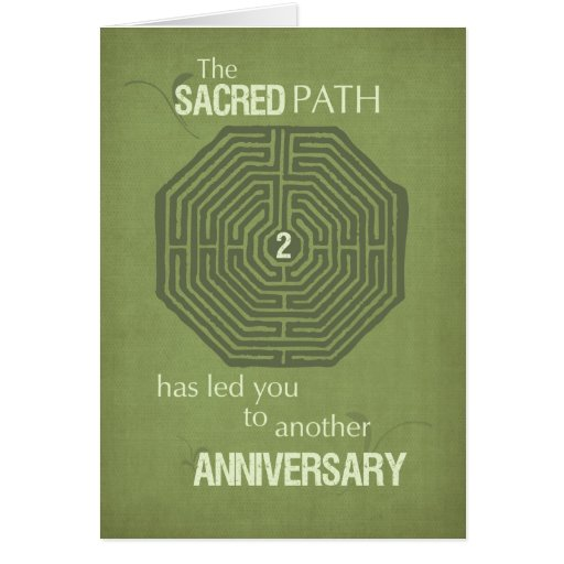 Labyrinth 12 Step Recovery Anniversary Card