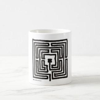 labyrinth 7 square coffee mug