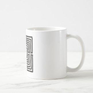 labyrinth 7 square coffee mugs