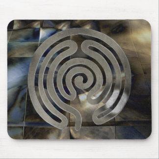 labyrinth antique antique more silver   mosaic gru mousepad