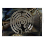 labyrinth antique antique silver | grunge mosaic