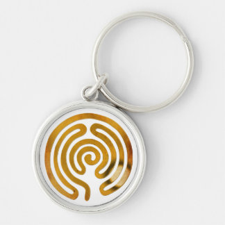 labyrinth antique gold | make your own background keychain