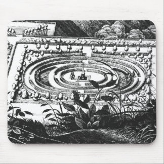 Labyrinth at Heidelberg, Hortus Palatinus (engravi Mouse Pad