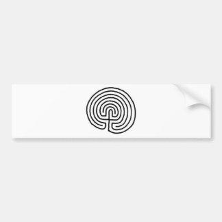 Labyrinth Car Bumper Sticker