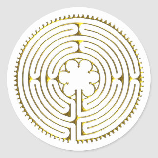 Labyrinth Chartres Classic Round Sticker