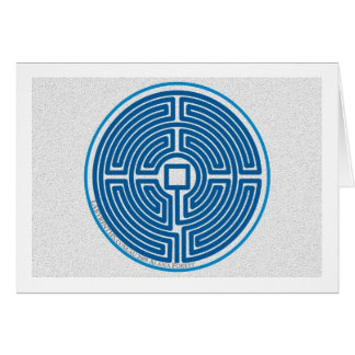 labyrinth echo 11-circuit chinese blue stone greeting card