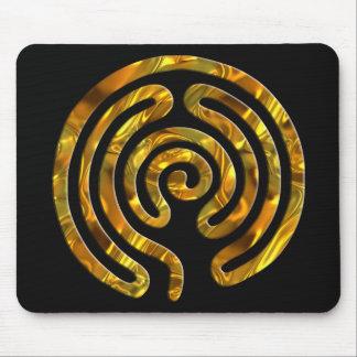 Labyrinth GOLD   black Mouse Pad