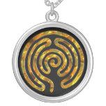 Labyrinth GOLD   black Necklaces