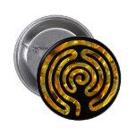 Labyrinth GOLD | black Pinback Buttons