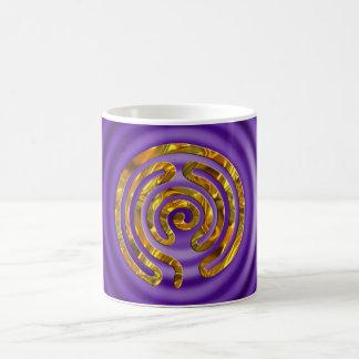 Labyrinth GOLD | violet ripples Mugs