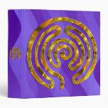 Labyrinth GOLD   violet waves Vinyl Binder