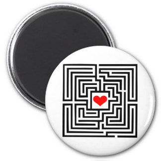 Labyrinth - Heart 2 Inch Round Magnet