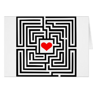 Labyrinth - Heart Greeting Card