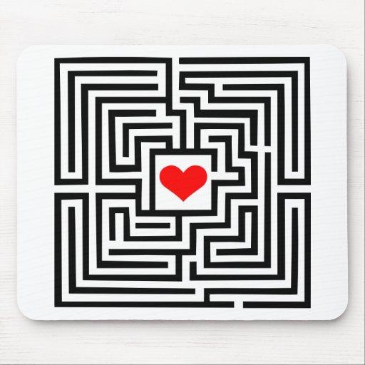 Labyrinth - Heart Mouse Mat