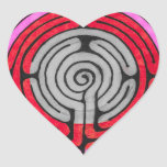 Labyrinth Heart Sticker